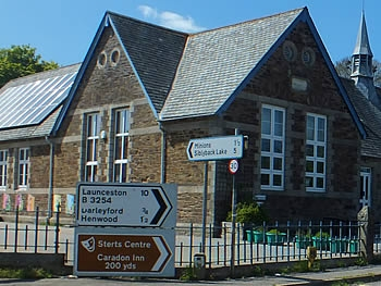 Signage at Upton Cross Primary School